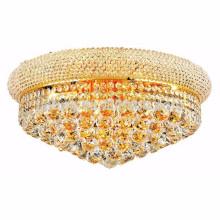 Royal Cut Clear Crystal und Gold Einbau Deckenleuchte -51113