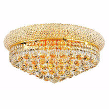 Royal Cut Clear Crystal and Gold Flush Mount Ceiling Lamp -51113