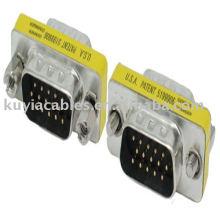 Convertidor macho a macho del adaptador del Pin de VGA HD15