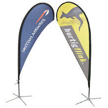 Digital Printing Teardrop Flying Flags with Cross Feet
