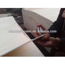 Madeira de alta qualidade e madeira compensada flexível, madeira compensada dobrável, madeira compensada dobrável, madeira dobrada dobrada, placa dobrável para o furniture