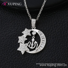 Fashion Special Star Moon Rhodium CZ Imitation Jewelry Pendant -30195