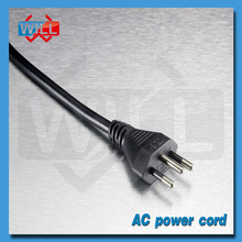 Certified 3 pin brazil 120v power cord plug