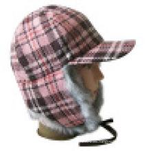 Invierno caliente sombrero con piel (VT005)