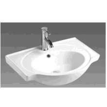 Bathroom Round Ceramic Cabinet Basin (B600)