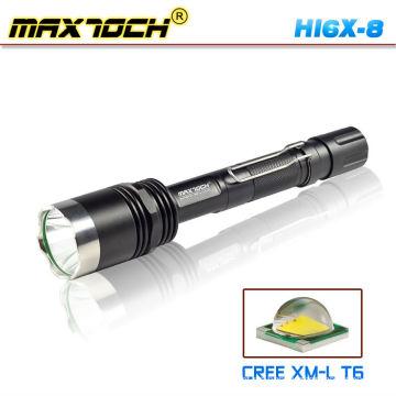 Maxtoch Cree HI6X-8 LED linterna 1000 lúmenes 18650 táctico con montaje