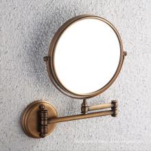 Miroir de salle de bain en laiton antique approuvé CE avec support mural