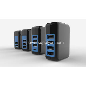 Chargeur mural USB multiple 4 ports 5V 4,8A