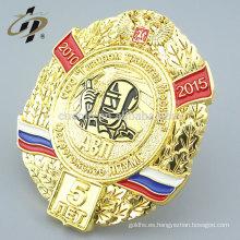 Personalizar Rusia chapado en oro esmalte medalla insignia militar solapa