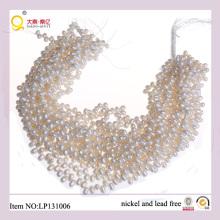 5-6mm Arco blanco Forma Hilos de perlas de agua dulce
