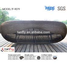 plein air meubles jardin ronde sofa de rotin