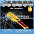 6 in 1 Emergency Safety Hammer Emergency Car Tool Car Window Breaker Seat belt cutter Screw Tool