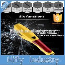 6 in 1 Notfall Sicherheit Hammer Notfall Auto Werkzeug Auto Fensterheber sicherheitsgurt cutter Schraube Werkzeug