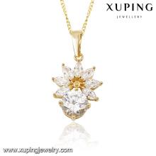 31132 xuping fashion dubai gold jewelry diamond flower pendants