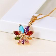Xuping Fashion Flower Cubic Zirconia Pendant