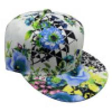 Casquette de baseball avec tissu floral avec Snapback Sb15112