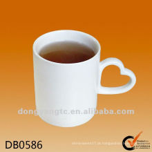 Logotipo personalizado eco amigável em branco cerâmico canecas de café