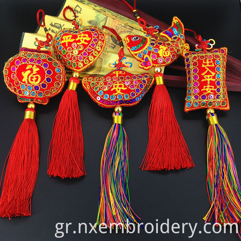 Hand Embroidered Chinese Knot
