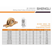 Hot Laminated Pulley Single Bearing with Y Groove