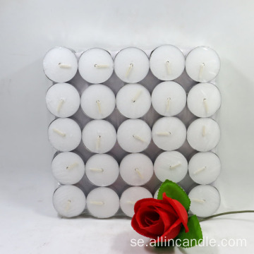 Unscented Tea Lights 4,5hrs Vit tealight ljus