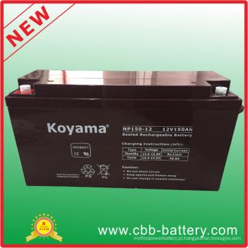Bateria 12V150ah de SLA AGM do armazenamento para solar, sistema alternativo