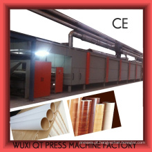 Máquina de revestimento de cola de papel de decoração / Linha de produção de papel de melamina / Linha de impregnação para papel Kraft