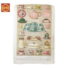 funny China factory wholesale 100% microfiber towel, standard tea towel size