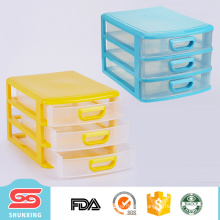 Top quality office use 3 layers plastic file cabinet with good price
