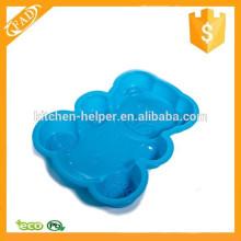 Durável impermeável ursinho de pelúcia Pudim Molde Bolo Silicone Mold