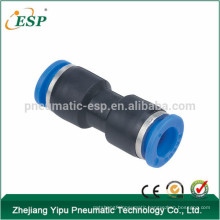 china PU union straight pneumatic fittings quick connect