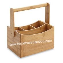 Bamboo Cutlery Flatware Utensil Caddy Holder Box Storage Organizer - Hb609