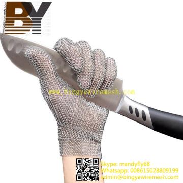 Messer schneiden schützende Edelstahl Mesh Handschuh Chainmail Handschuhe