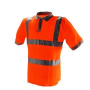 Röd säkerhet reflekterande säkerhets POLO Shirt