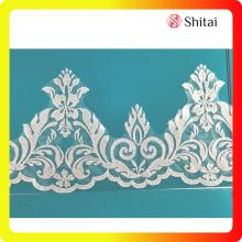 Wholesale Price for White Lace Trim fashionable sequin flower lace export to Germany Exporter