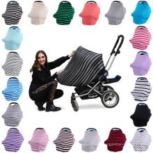 Nouvelle arrivée stretch bébé couverture de siège de voiture canopée allaitement couverture allaitement écharpe