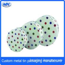 CMYK printed tinplate round tin box sets