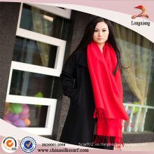 Las bufandas de seda rojas de moda venden al por mayor el mantón de Pashmina, bufandas chinas, bufandas al por mayor de la vendimia