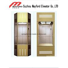 Ascenseur panoramique de mur de voiture en verre avec l'acier inoxydable