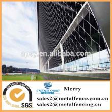 treillis métallique décoratif de corde d'acier inoxydable pour la façade de bâtiment