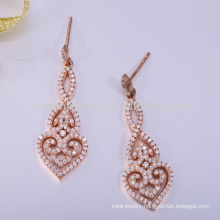 Style zircon earring 925 sterling silver new designs gold jhumka earring