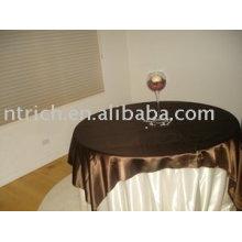 Toalha de mesa em tecido 100% poliéster, roupa de mesa para vistos, sobreposição de cetim