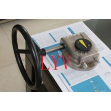 Réducteur à vis sans fin monobloc avec actionneur de vannes