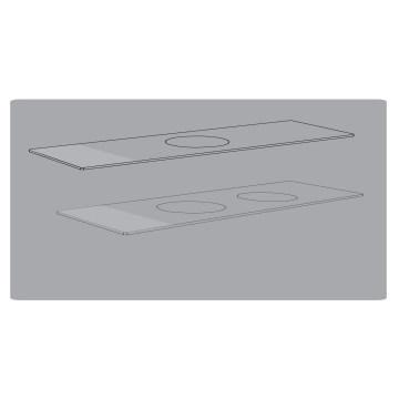 Objektträger mit gedruckten Kreisen (0370-0003)