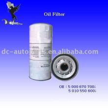 Filtre à huile pour camion et pelle 5 000 670 700 Appliqué pour Cat / Mack / Volvo