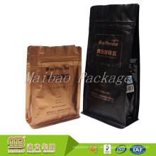 Kundengebundene Nahrungsmittelgrad-wiederverschließbare Reißverschluss-Aluminiumfolie zeichnete flexible verpackende Kaffee-Taschen Malaysia