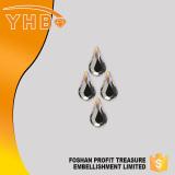 Luxury Own style fashion luxury jewelry Pearshape flat back sew on hotfix crystal rhinestone