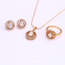 61679 xuping mode meistverkauften afrikanische zirkonia schmuck-sets 18 karat gold plattiert