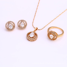 61679 xuping fashion best selling African zirconia jewelry Sets 18k gold plated sets