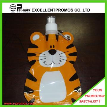 Lovely Tiger Shape Plastic Folding Water Bottle 350ml Capacity (EP-B125513)