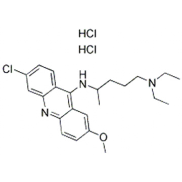 1,4-Pentanediamine,N4-(6-chloro-2-methoxy-9-acridinyl)-N1,N1-diethyl-, hydrochloride (1:2) CAS 69-05-6